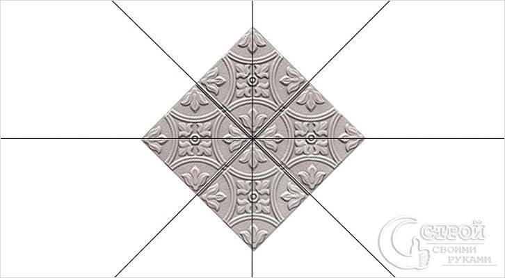 Схема размещения плитки
