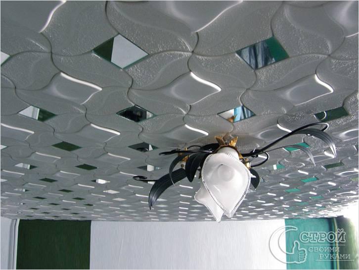 Способы размещения потолочной плитки