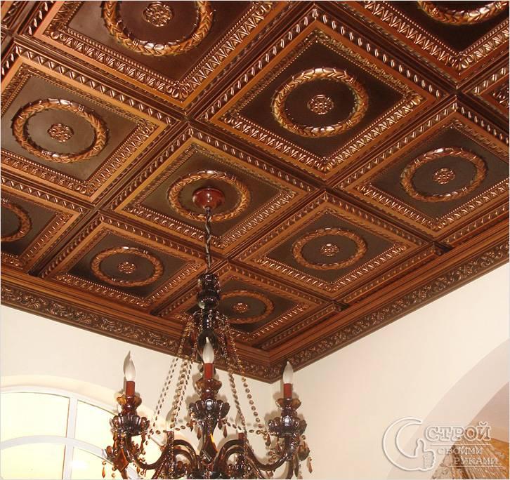 Красивая плитка для потолка