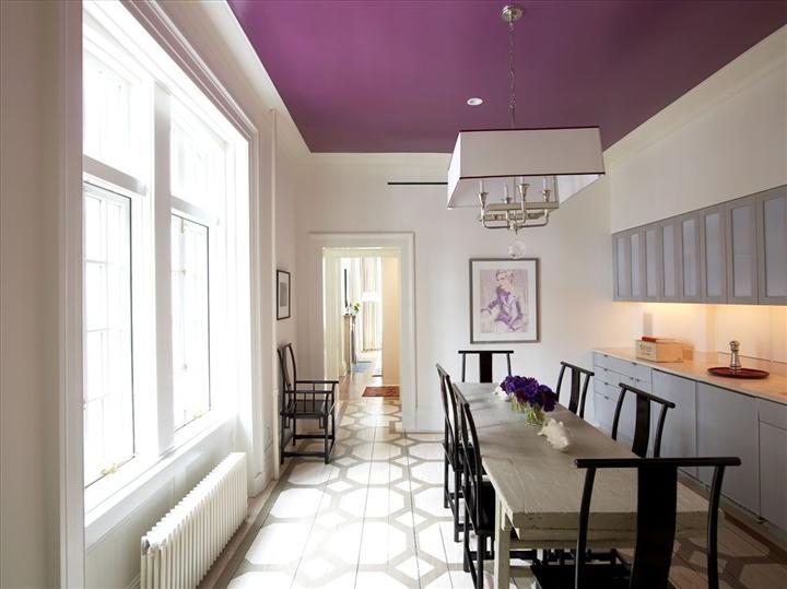 Фиолетовый потолок