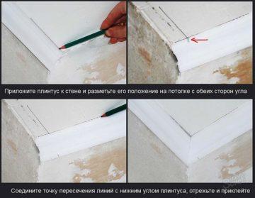 Уголок внутренний для потолочного плинтуса пвх купить