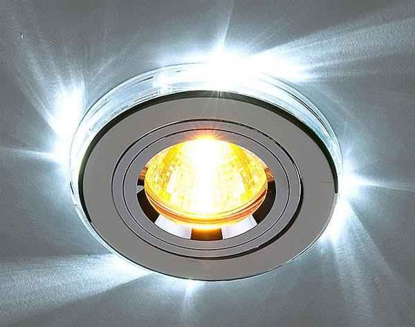 размеры точечных светильников для гипсокартона