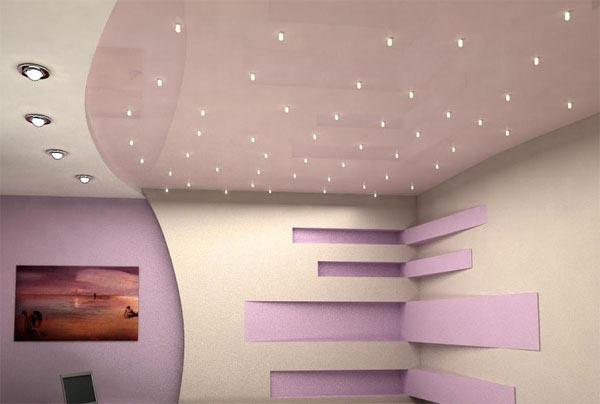 отверстия в гипсокартоне под светильники