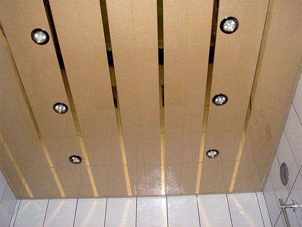 Установка светильника армстронг в потолок пластиковыми панелями