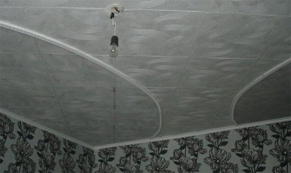 плитка потолочная на неровный потолок
