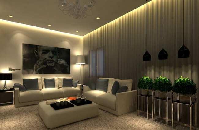светодиодная лента и натяжной потолок