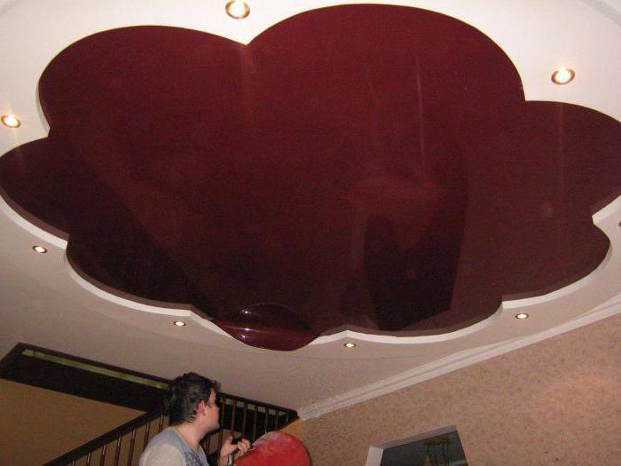 затопили натяжной потолок