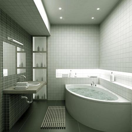 Гипсокартон отлично подходит для потолка ванной комнаты в качестве материала, поскольку обладает прекрасными эксплуатационными качествами
