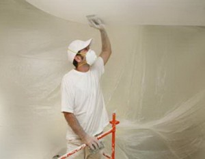 белим потолок в респираторе