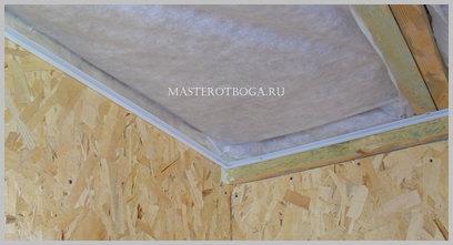 Потолок из пластиковых панелей своими руками обычный способ монтажа