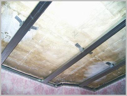 Потолок из пластиковых панелей своими руками - каркас