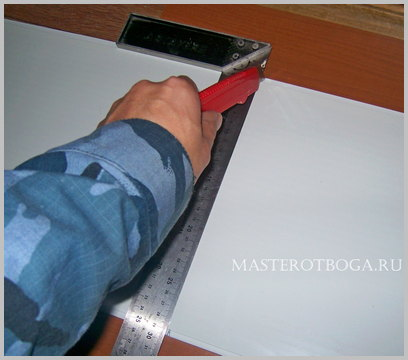 Потолок из пластиковых панелей своими руками обрезка