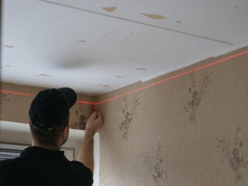 разметка стен перед монтажом