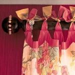 использование завязок для штор