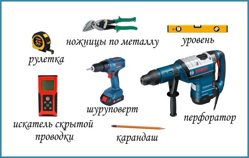 Инструмент, необходимый для монтажа МДФ панелей