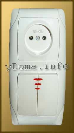 Внешний вид блока выключателей Viko (Вико)