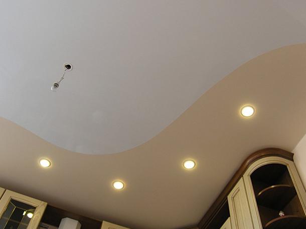 Двойной натяжной потолок