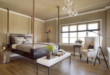 Кровать на канатах в стиле модерн