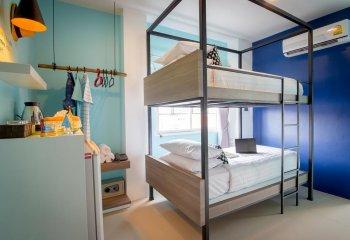 Пространственная двухъярусная кровать