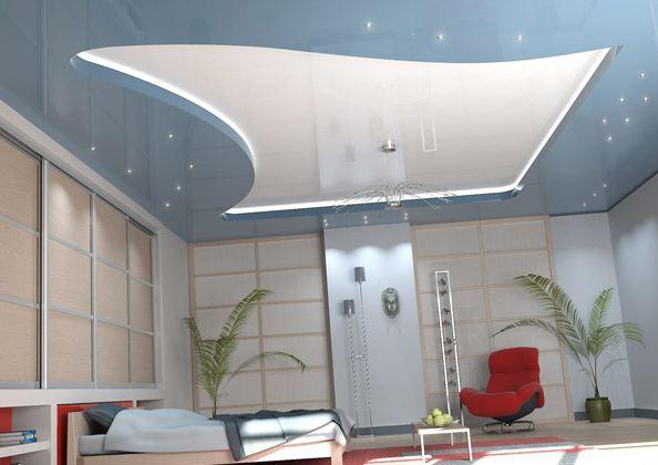 Пример освещения в помещении с низкими потолками.