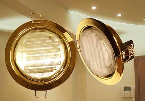 энергосберегающие лампочки в натяжной потолок преимущества