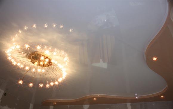 лампочки в натяжной потолок