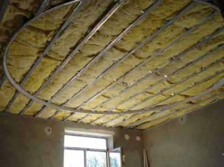 Утепление потолка минватой