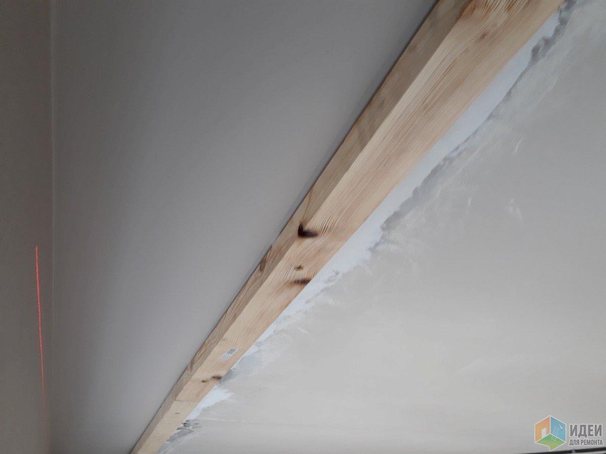 Натяжной потолок со скрытым потолочным карнизом