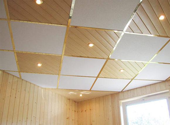 как сделать подвесной потолок из пвх