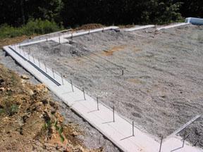 ленточный фундамент дома керамзитобетонных блоков