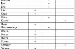 Таблица физических свойств древесины