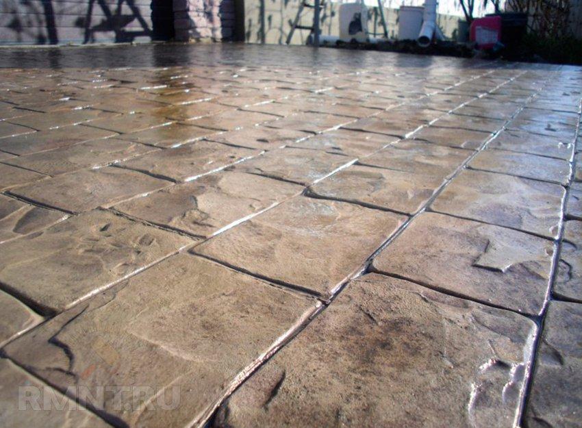 декоративный бетон своими