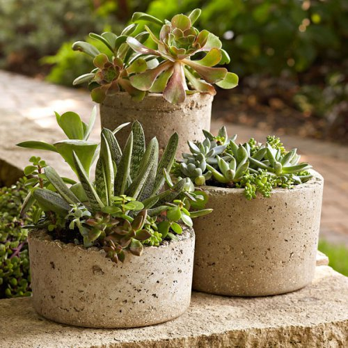 бетонная ваза своими руками