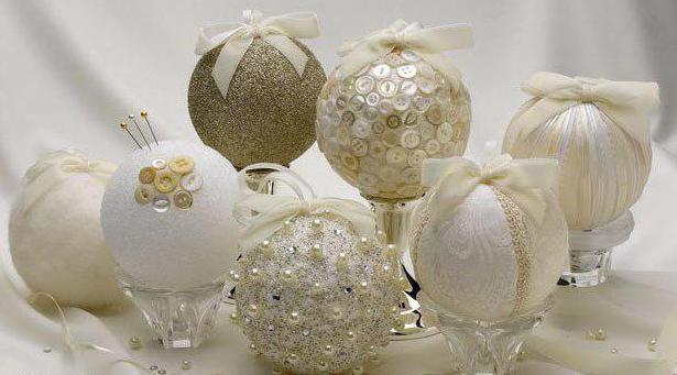 новогодние шары из пенопласта