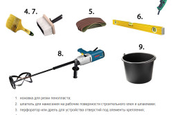 Инструменты, необходимые при работе по утеплению помещения
