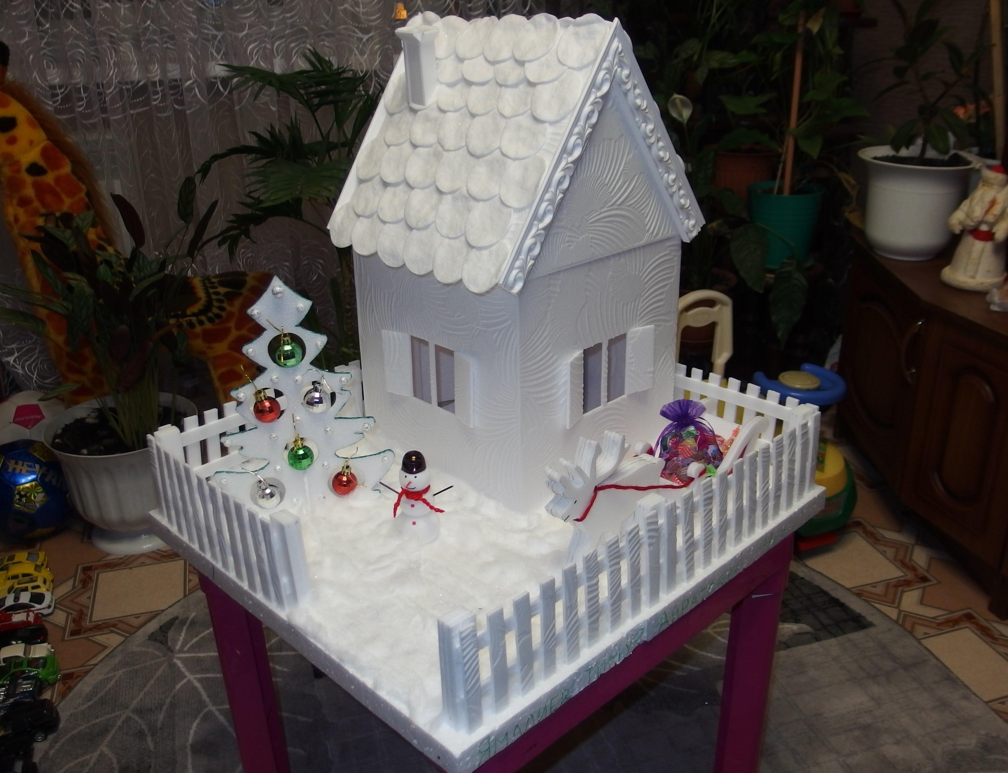 Дом из пенопласта своими руками для куклы фото 69