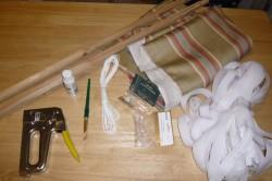 Инструменты и материалы для изготовления римских штор