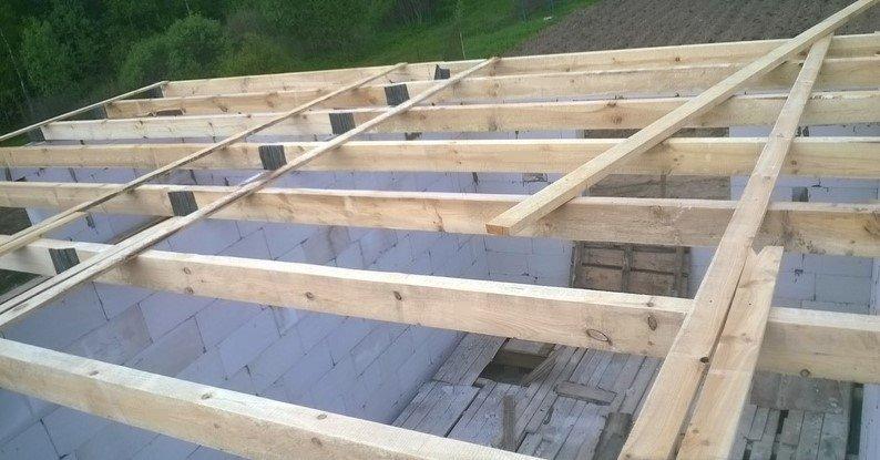 Крыша гаража из пеноблоков