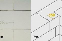 Расстояния при кладке блоков