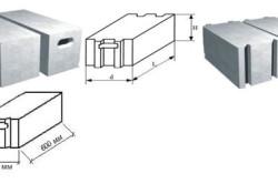 Размеры газобетонных блоков