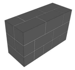 стена толщиной в целый блок