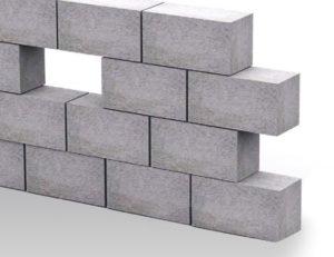 стена толщиной в пол блока