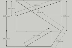 Общий чертеж разметки фундамента дома