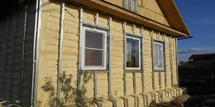 Утепление фасадов дома пенополиуретаном