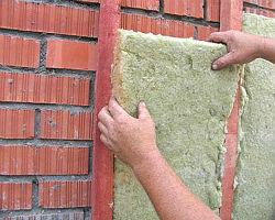 Утепление стен кирпичного дома минеральной ватой