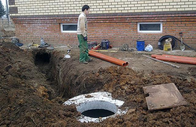 как правильно проложить канализационные трубы в земле