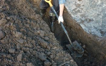 выпуск канализационной трубы