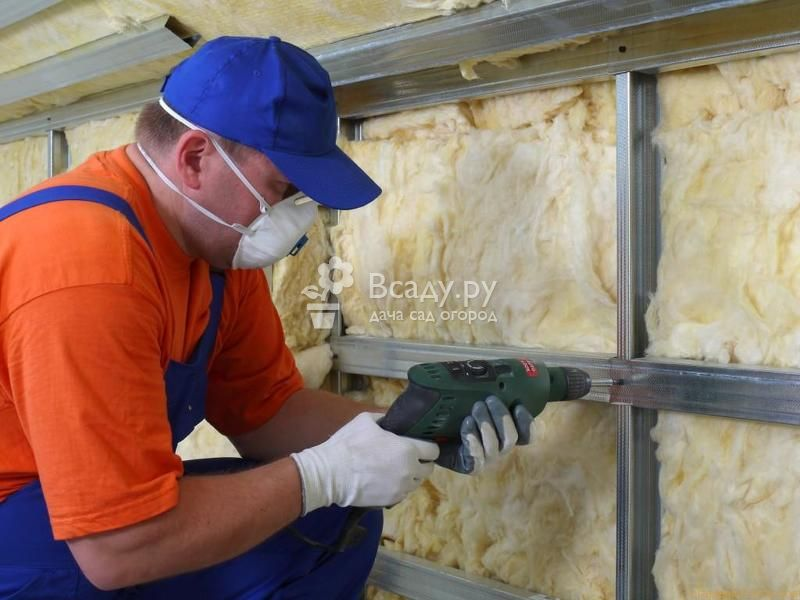 Виды утеплителей для стен: укладка минеральной ваты