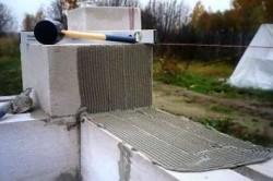 Укладка пеноблоков на цементный раствор