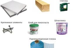 Инструменты и материалы для утепления стен пенопластом